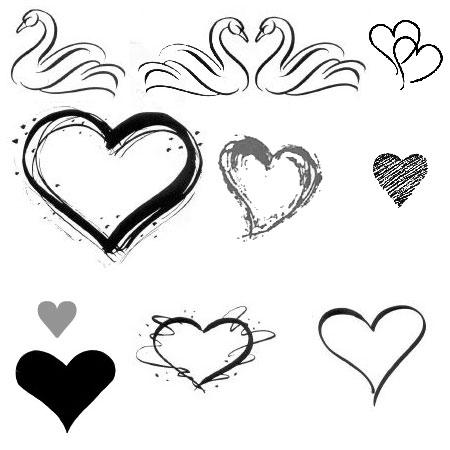 Красивые кисти на любовную тематику